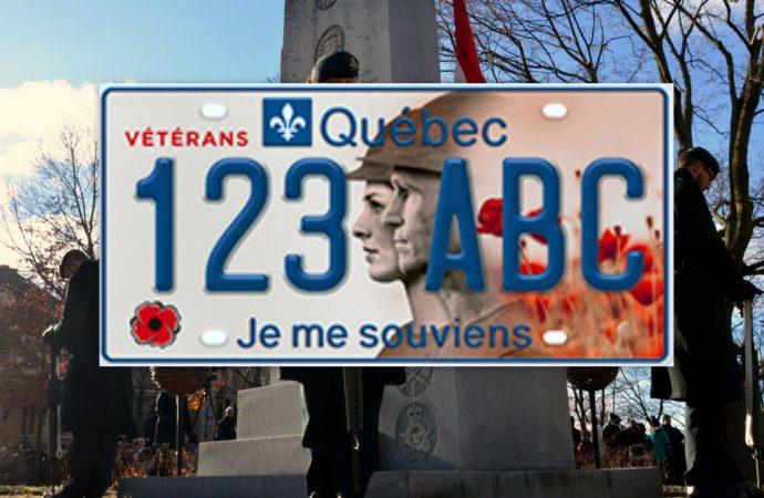 Le gouvernement du Québec dévoile une plaque d'immatriculation unique pour les vétérans