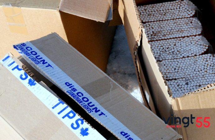 Drummondville: La Sûreté du Québec (SQ) saisit 40 000 cigarettes de contrebande