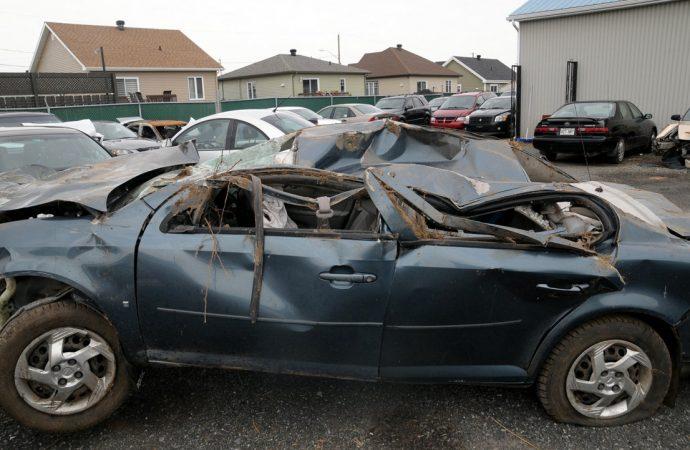 Spectaculaire accident à Saint-Cyrille-de-Wendover