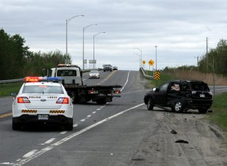 Violent accident à l'angle de la 55 et de la 139