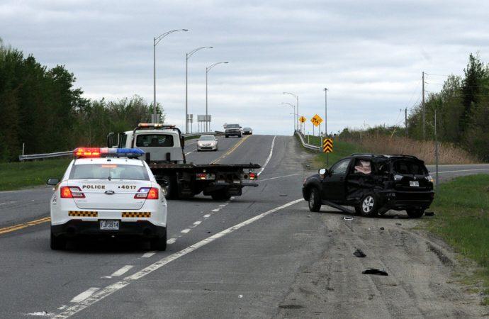 Violent accident à l'angle de la 55 et de la 139