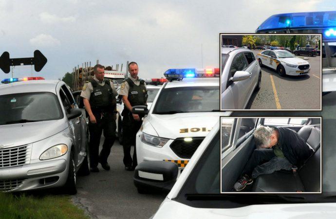 Vols et méfaits dans des véhicules; un suspect pris la main dans le sac