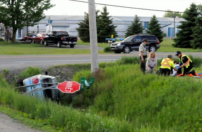 Un accident fait deux blessés à Wickham