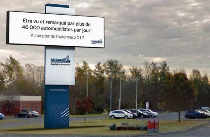 Installation de structures à affichage numérique en bordure de l'autoroute 20