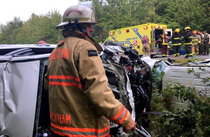 3 blessés, dont 1 grave dans une violente collision à Wickham