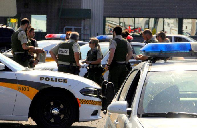 Importante opération policière à Plessisville, les policiers de Drummond contribuent