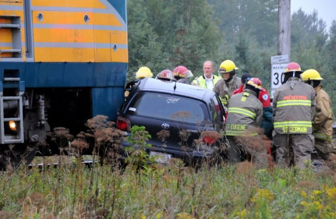 Accident de train mortel à Saint-Eugène