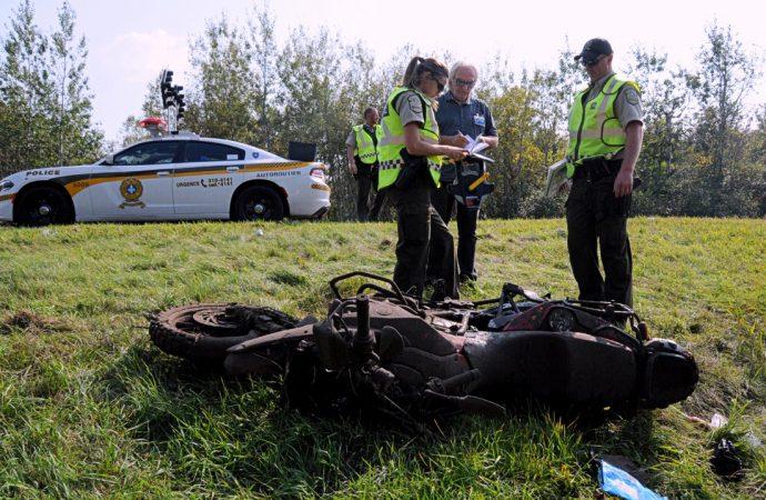 Motocycliste tué à Drummondville