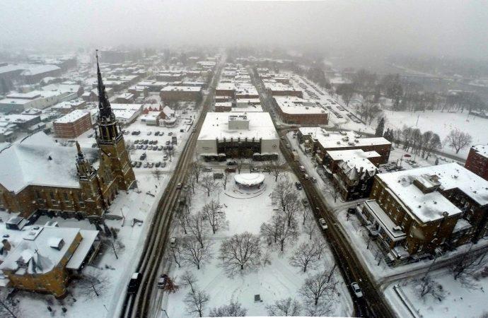 Premier manteau blanc sur Drummondville
