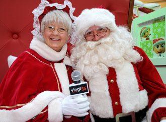(VIDÉO)Le Vingt55 rencontre en primeur le VRAI père Noël aux Promenades Drummondville!