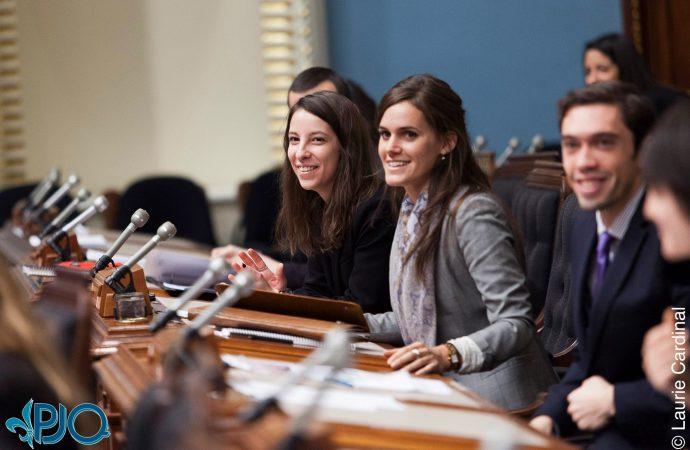 68e législature du Parlement jeunesse du Québec – Une centaine de jeunes occuperont le Parlement pendant le temps des Fêtes