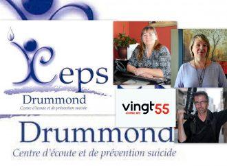 Un beau partenariat entre le Centre d'écoute et de prévention suicide de Drummondville (CEPSD) et le Journal web Vingt55