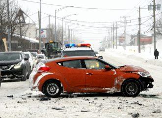 Le froid, la neige et les vents causent plusieurs accidents sur les routes de la MRC de Drummond et à Drummondville