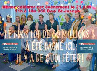 60000000 $,  ça se fête chez Jean-Coutu à Drummondville et vous y êtes invités !
