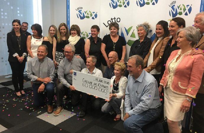 LOTTO MAX-Un groupe du Centre-du-Québec se partage 60 000 000 $ en 10 parts égales de 6 000 000 $