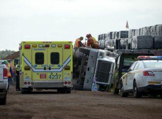 Accident de travail à Saint-Bonaventure près de Drummondville