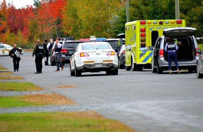 Coups de feu dans le secteur Saint-Nicéphore de Drummondville-Le groupe d'intervention (G.I.) de la Sûreté du Québec intervient