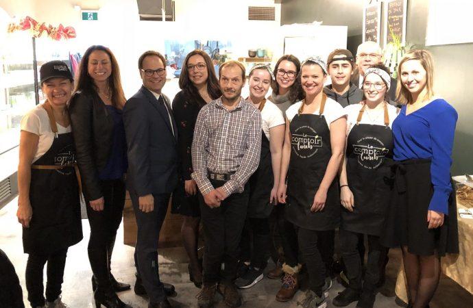 Le Comptoir lunch de Drummondville célèbre son ouverture officielle