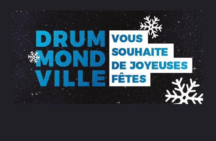 Horaire des services municipaux de Drummondville pour la période des Fêtes