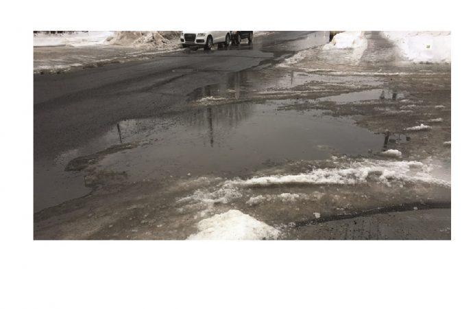 Des accumulations d'eau à divers endroits du réseau routier et piétonnier drummondvillois