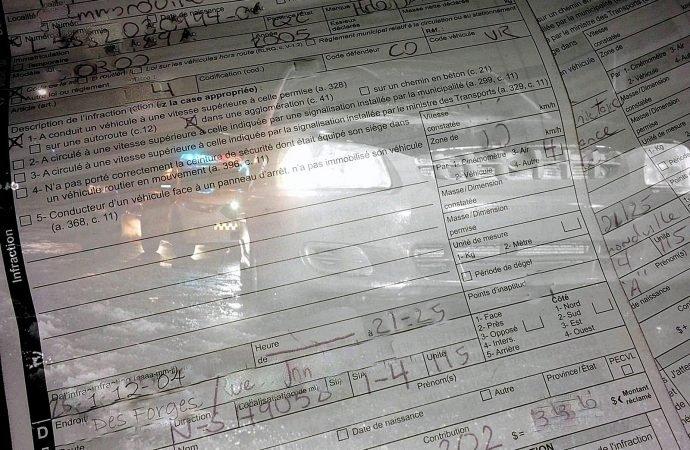 Délit de fuite, action dangereuse et vitesse, un Drummondvillois perd son permis et écope d'amendes salées.