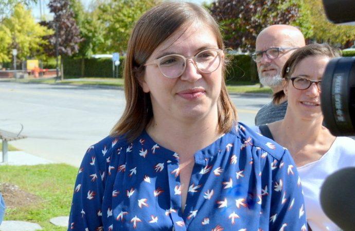 Sarah Saint-Cyr Lanoie brigue le poste de conseillère municipale dans le District 4.