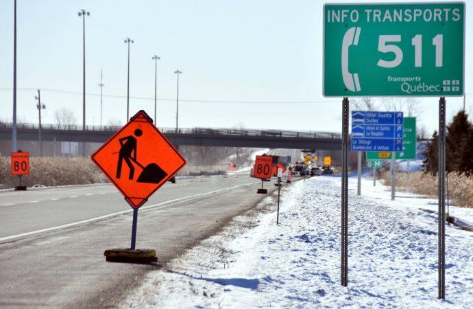 Fermeture partielle et détour autoroute 55 en raison de travaux sur le pont Saint-Pierre.