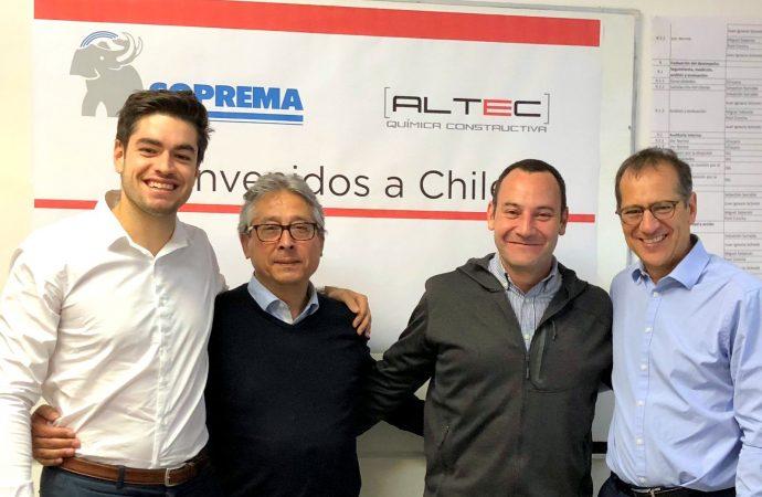 Soprema poursuit son expansion sur la scène internationale grâce a un nouveau partenariat stratégique au Chili