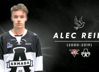 Décès d'Alec Reid, ancien attaquant des Voltigeurs de Drummondville, la famille de la LHJMQ en deuil