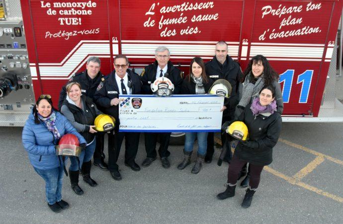 Les pompiers de Saint-Germain-de-Grantham répondent encore une fois à l'appel de la générosité