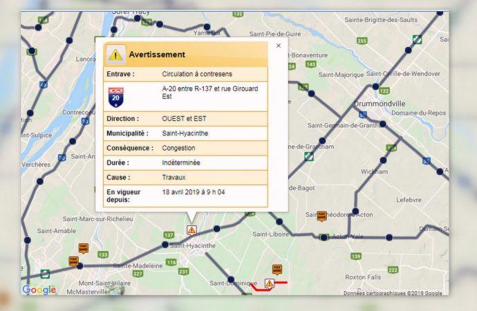 Fermeture de l'autoroute 20 prévoyez vos déplacements vers Montréal