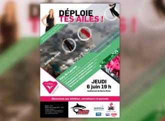 DÉPLOIE TES AILES – Les Requins de Drummondville vous invite à une conférence et un défilé présenté par l'athlète Katy St-Laurent,