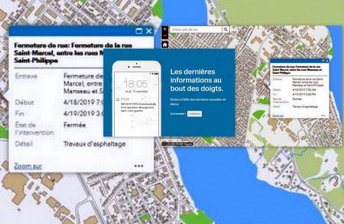 Les fermetures temporaires de rues maintenant répertoriées sur le site Web de la Ville