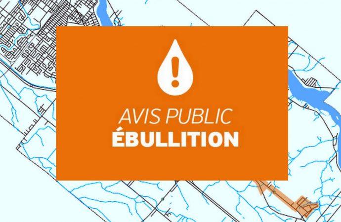*AVIS D'ÉBULLITION EN VIGUEUR* Pour tout le territoire de Drummondville desservi par le réseau d'aqueduc