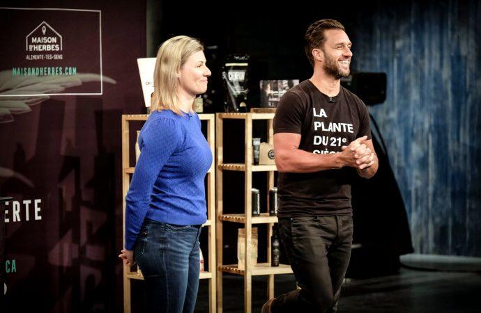 Les Drummondvillois Dany Lefebvre et Marie-Ève Parenteau à l'émission « Dans l'oeil des Dragons »