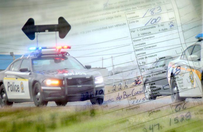 Grand excès de vitesse – Un constat de 1528$ et 18 points d'inaptitude pour un Drummondvillois de 20 ans
