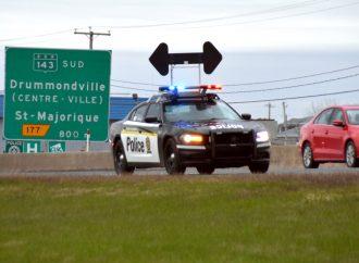 Opération contre la vitesse de la SQ à Drummondville, un conducteur capté à plus de 160 km/h