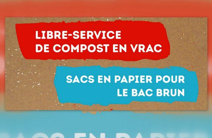 La Ville de Drummondville invite les citoyens à se procurer du compost en vrac et des sacs en papier pour les bacs bruns