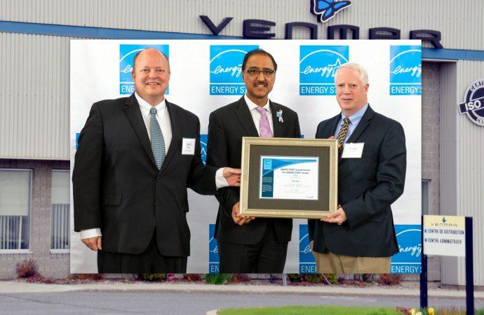 Venmar Ventilation se voit décerner le prix ENERGY STAR Fabriquant de l'année
