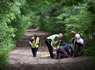 Un accident de motocross dans un sentier a fait 1 blessé à Drummondville
