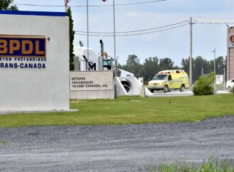 Accident de travail chez BPDL à Saint-Eugène près de Drummondville