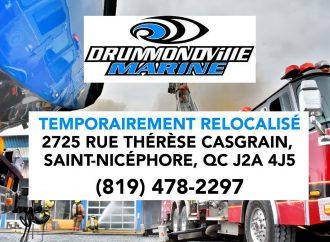 Incendie Drummondville Marine – Une équipe positive à l'œuvre dans des locaux temporaires situés sur la rue Thérèse-Casgrain
