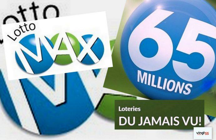 Tirage du Lotto Max du mardi 11 juin – Un billet acheté au Québec gagnant du gros lot de 65 millions de dollars