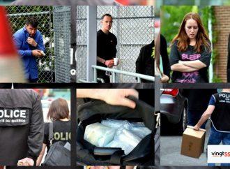 """Trafic de stupéfiants : La SQ dresse un bilan provisoire """"stupéfiant"""" des perquisitions et arrestations"""
