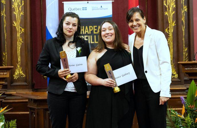 Lauréates du concours Chapeau, les filles! volet Excelle Science, une étudiante de Drummondville se démarque