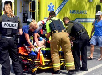 Un piéton happé par une voiture à Drummondville