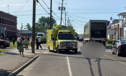 Une fillette happée mortellement par un camion au Centre-du-Québec