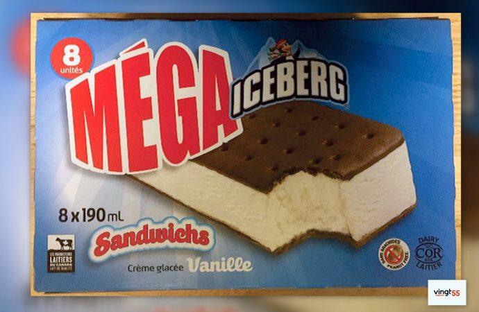 Rappel de sandwichs à la crème glacée de marque Iceberg et de marque Originale Augustin