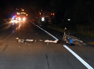 Un motocycliste perd la vie après avoir percuté un tracteur de ferme près de Drummondville