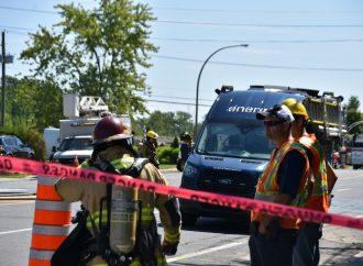 Importante fuite de gaz sur la rue Cormier à Drummondville